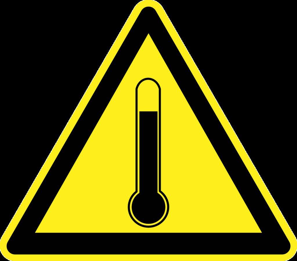 high temperature, hot, heat